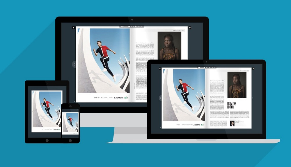 Responsive Devices with Flipbook